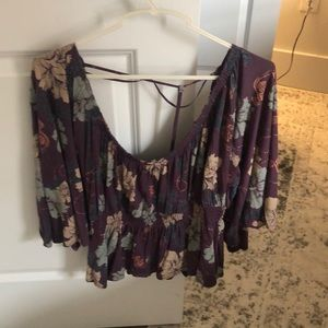 Free People Floral Top-XS- Never Worn